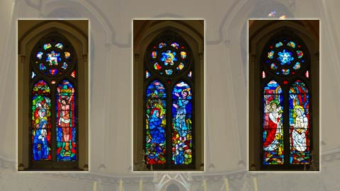 Evie Hone Windows at The Church of the Immaculate Conception, Kingscourt