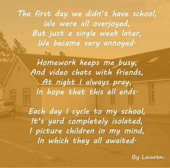 Covid-19 Prayer by Lauren